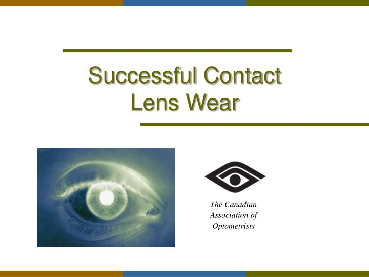 successful contact lens wear