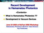 recent development in hamamatsu photonics