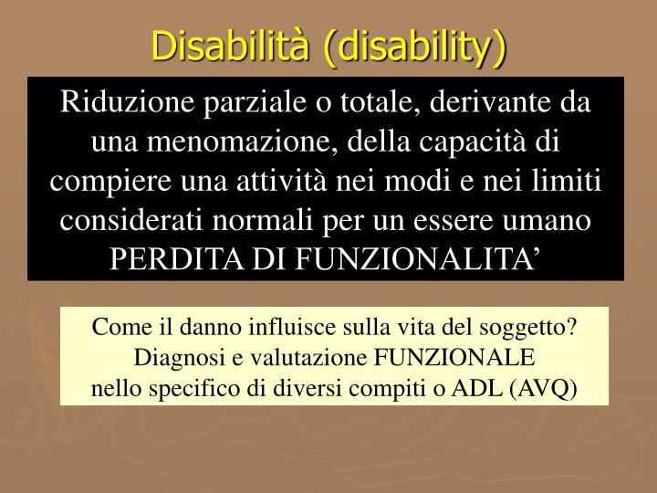 Disabilità (disability)