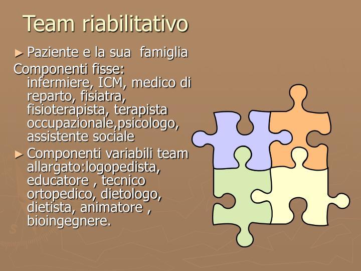 Team riabilitativo