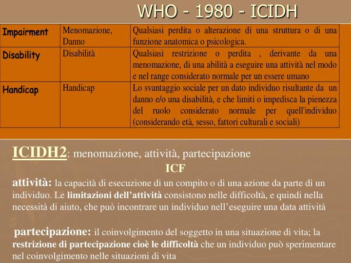 WHO - 1980 - ICIDH