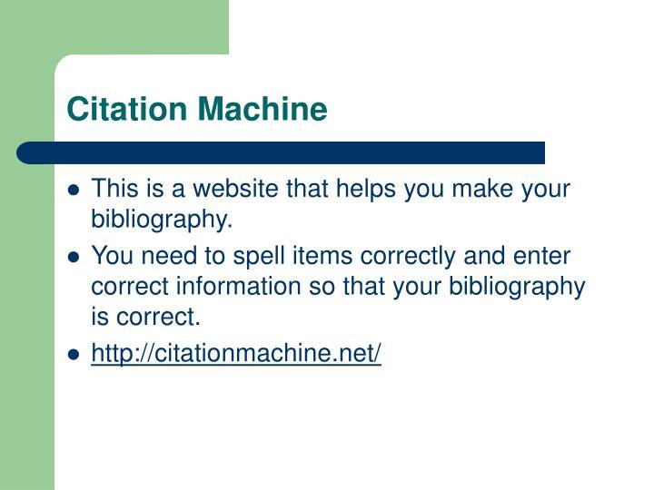 Citation Machine