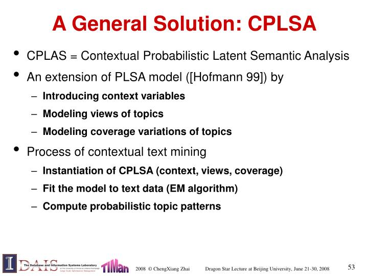 A General Solution: CPLSA