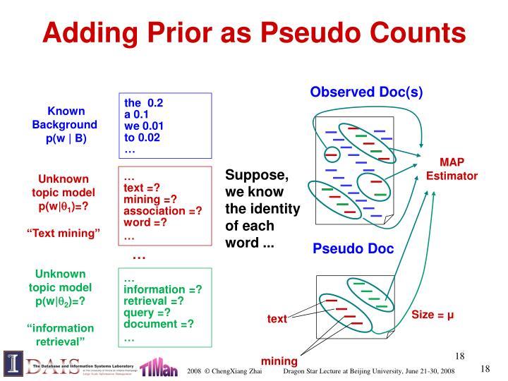 Adding Prior as Pseudo Counts