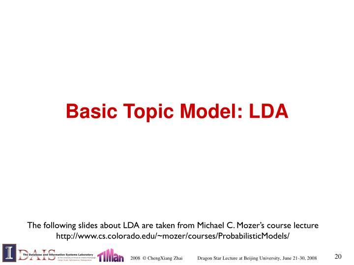 Basic Topic Model: LDA