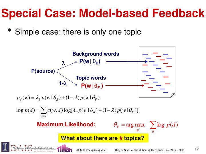 Special Case: Model-based Feedback