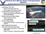 bimese rlv marine space transportation options forward deployment space insertion extraction