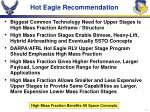 hot eagle recommendation