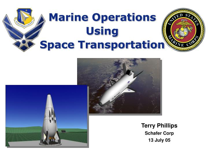 marine operations using space transportation n.
