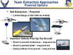 team extraction approaches powered options