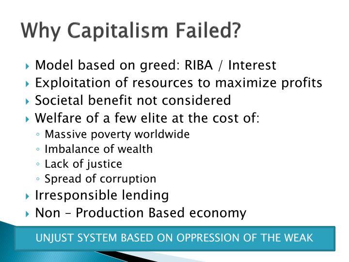 Why capitalism failed