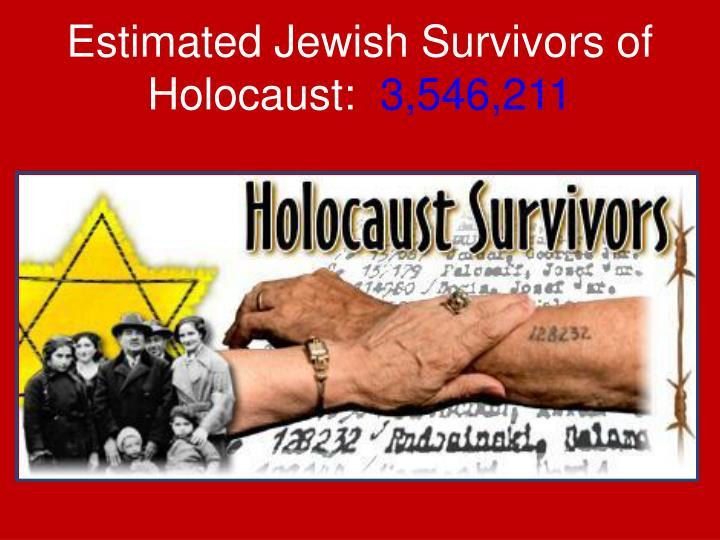 Estimated Jewish Survivors of Holocaust: