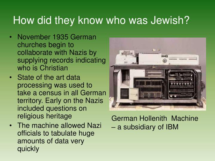 How did they know who was Jewish?