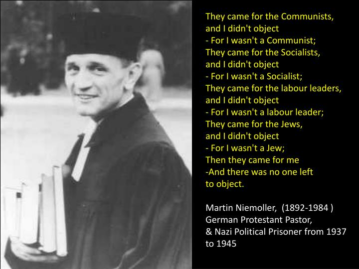 They came for the Communists,