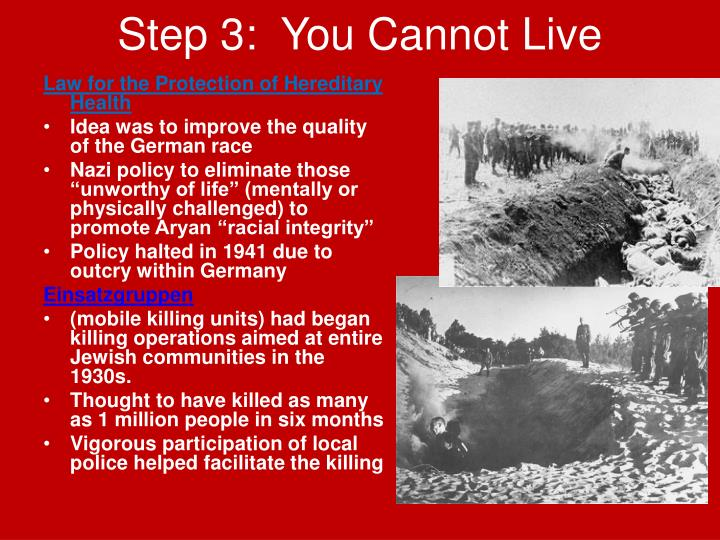 Step 3:  You Cannot Live