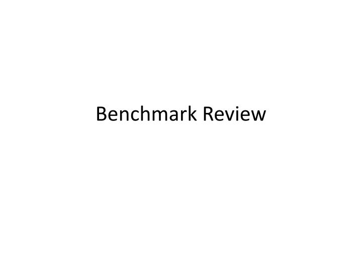 benchmark review n.