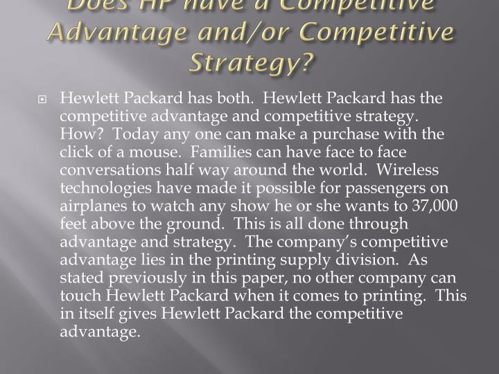 an analysis of the strategy paper on hewlett packard inc Strategy for increasing the company's  this paper provides a comprehensive financial  a comprehensive ratio to industry analysis of hewlett-packard.