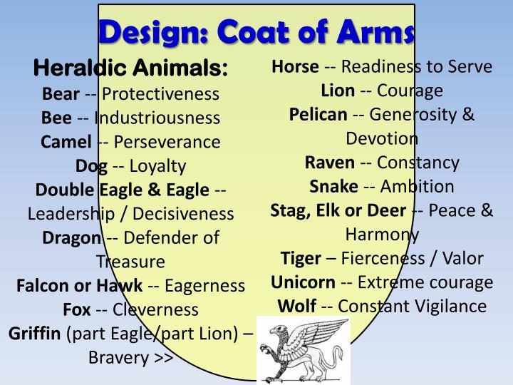 Design: Coat of Arms