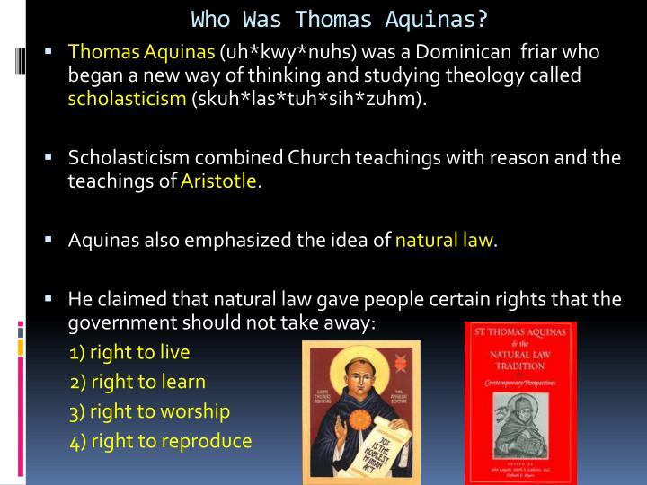Who Was Thomas Aquinas?