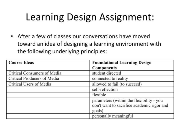 Learning Design Assignment