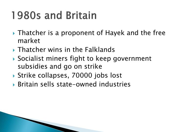 1980s and Britain