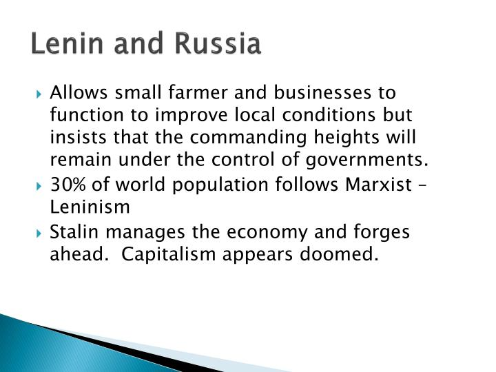 Lenin and Russia