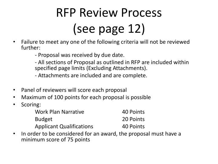 RFP Review Process