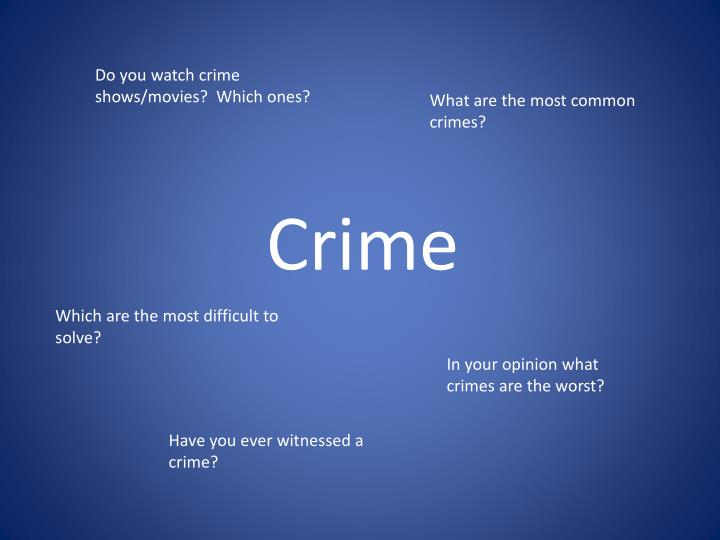 what is crime Crime, the intentional commission of an act usually deemed socially harmful or dangerous and specifically defined, prohibited, and punishable under criminal law most countries have enacted a criminal code in which all of the criminal law can be found, though english law—the source of many other criminal-law systems—remains uncodified.