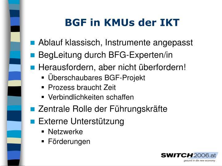 BGF in KMUs der IKT