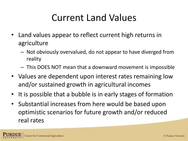 Current Land Values