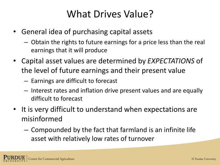 What drives value