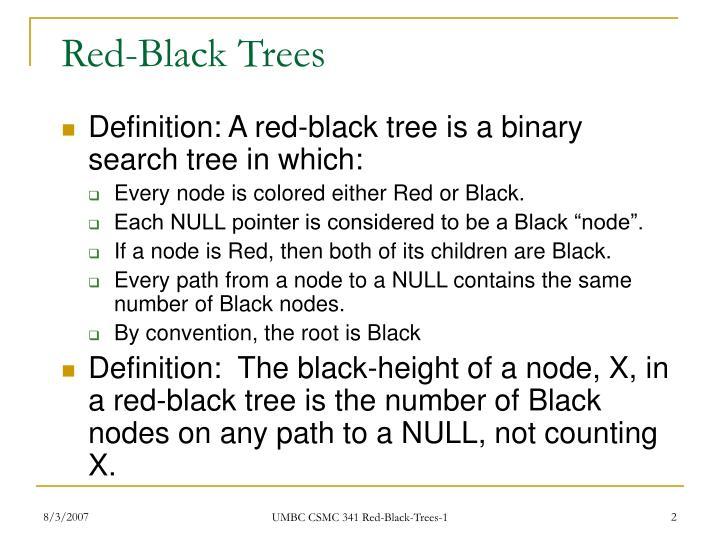 Red black trees1