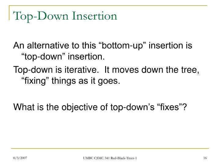 Top-Down Insertion