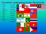 countries undergoing green revolution