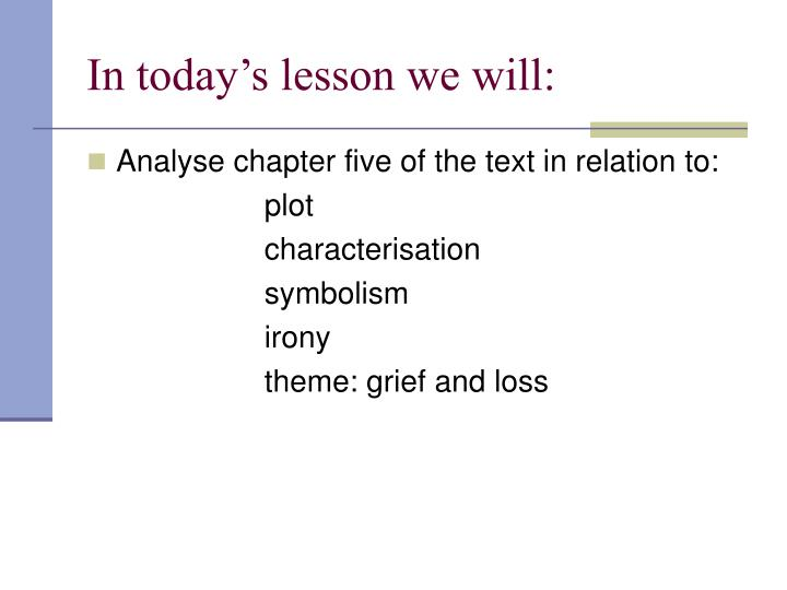 In today s lesson we will