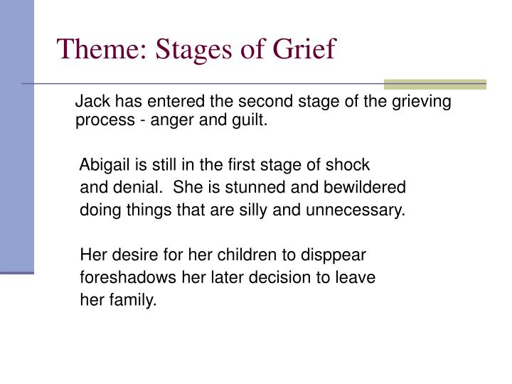 Theme: Stages of Grief