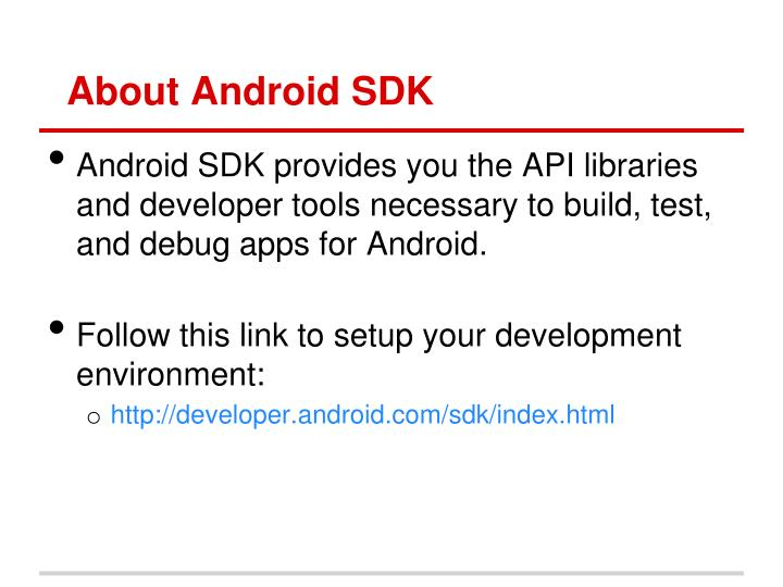 About Android SDK