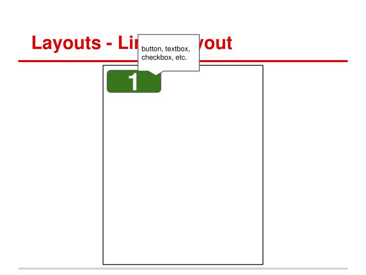 Layouts - LinearLayout