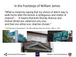 in the footsteps of william james