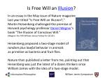 is free will an illusion