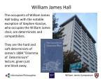 william james hall