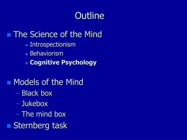 cognitive outline Cognitive deficits in children range from profound mental retardation with minimal functioning to mild impairment in specific operations definitions cognitive deficit is an inclusive term that is most often used to describe deficits in intellectual functioning in global disorders (eg.