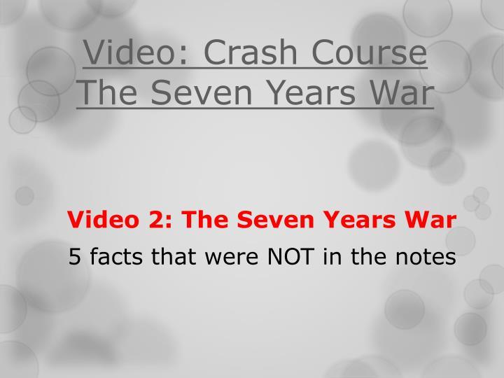 crash course 7 years war
