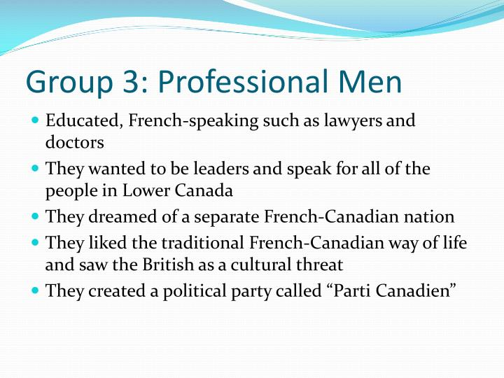 Group 3: Professional Men