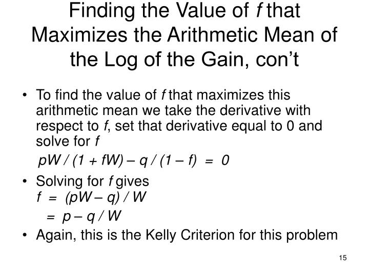 Finding the Value of