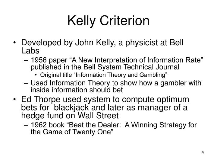 Kelly Criterion