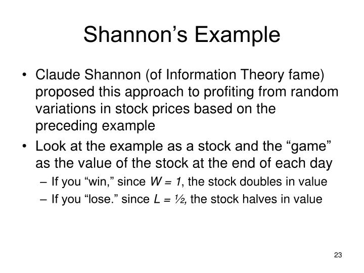 Shannon's Example