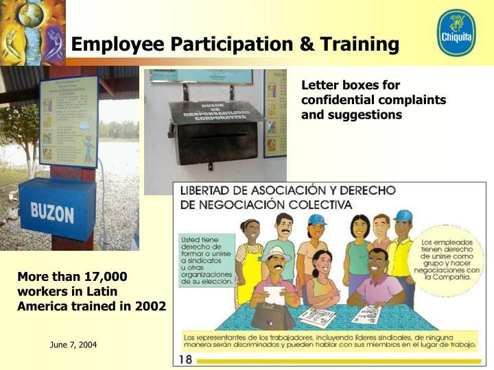 Employee Participation & Training