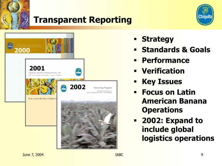 Transparent Reporting