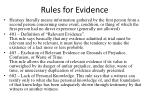 rules for evidence
